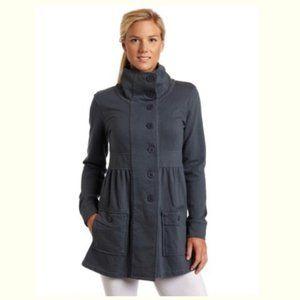NWT Prana Sylvie Gray Cotton Button Up Jacket